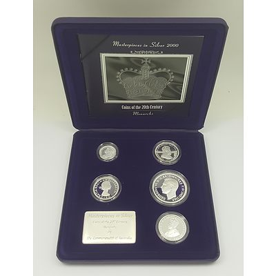 2000 Masterpieces in Silver Coin Collection - Coins of the 20th Century Monarchs Collection
