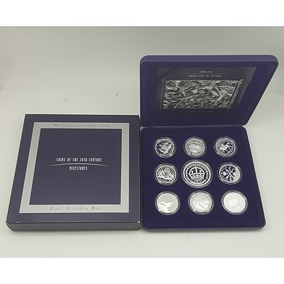 1998 Masterpieces in Silver Coin Collection -Coins of the 20th Century Milestones Collection