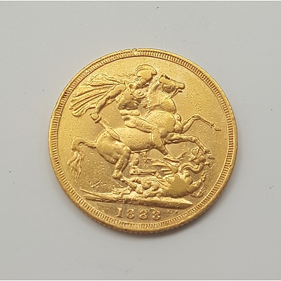 1888 Gold Sovereign - 22ct Solid Gold in Very Collectable Grade