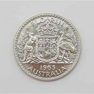 1963 Australian Florin in Brilliant Uncirculated Condition- Last Year of Issue