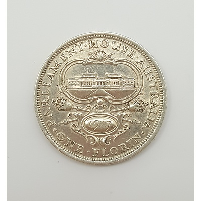 1927 Australian Florin - Parliament House Commemorative