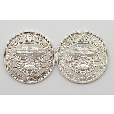 Two Australian 1927 Parliament House Commemorative Florins