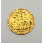 1906 Gold Half Sovereign - 22ct Solid Gold in Very Collectable Grade