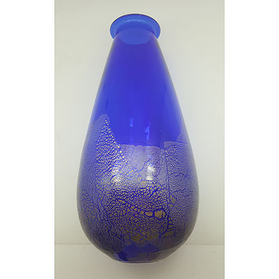 Large Art Glass Vase Signed to Base by Artist - Jodie Blur