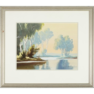 Charles Frydrych (1913-1990) River Bend Watercolour