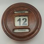 Hardwood Wall Mount Perpetual Calendar