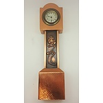 Arts and Crafts Style Copper Mantle Clock