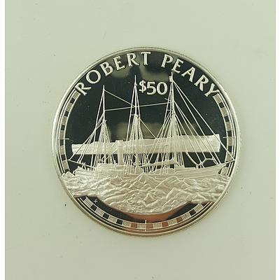 1988 Fifty Dollar Great Explorers Proof Coin Struck in Sterling Silver