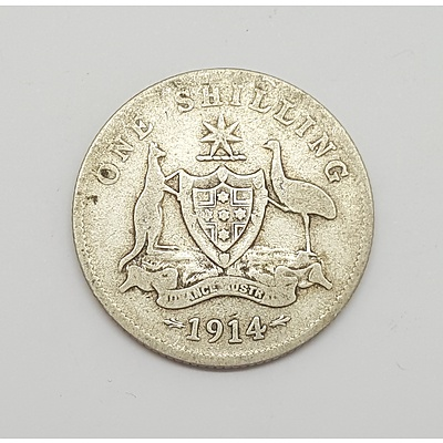 Scarce Key Date 1914 Australian Shilling