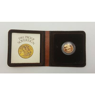 1981 Proof Sovereign Struck in 22ct Gold
