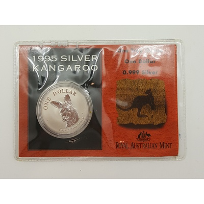 Bullion Coin 1995 Silver Kangaroo with One Troy Ounce of Pure Silver