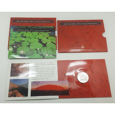 Two 1992 Northern Territory Sterling Silver Coin Sets
