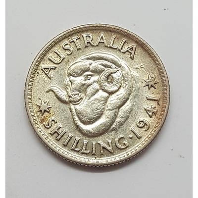 High Grade 1941 Australian Shilling