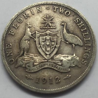 Key Date Scarce 1912 Australian Florin