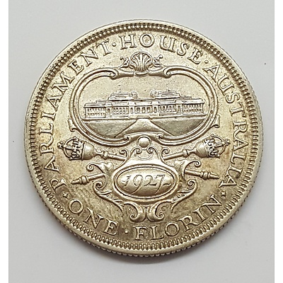 1927 Parliament House Commemorative Florin