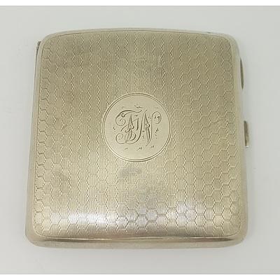 Sterling Silver Cigarette Card Case, Birmingham 1923 Approx. 118grams