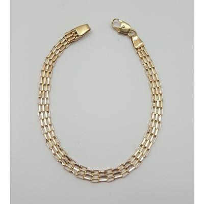 9ct Yellow Gold Gatelink Bracelet