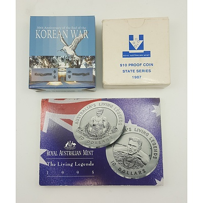 Assorted Boxed Commemorative Coins