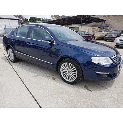 2/2006 Volkswagen Passat V6 FSI 4motion 3C 4d Sedan Blue 3.2L