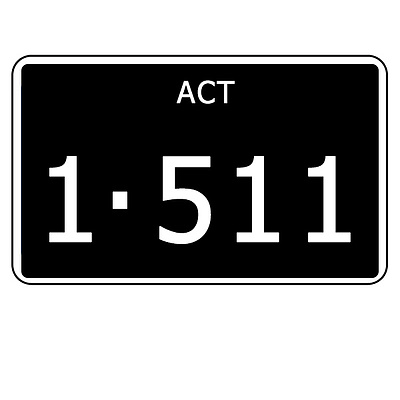 ACT Number Plate  1511