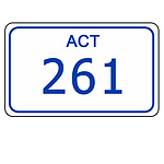 ACT Number Plate  261