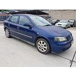 10/2003 Holden Astra Equipe TS 5d Hatchback Blue 1.8L