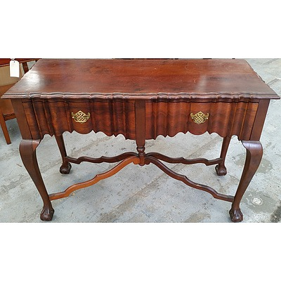 Vintage South African Stinkwood (Celtis Africana) Chippendale Style Hall Table