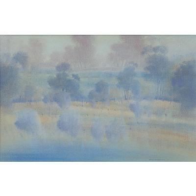 STRATTON, Brian (b.1936): 'Bringelly.' Watercolour