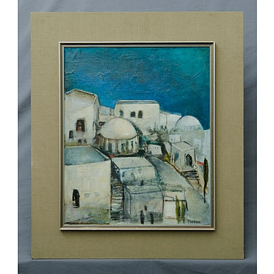 POCKLEY, Lesley (b.1919): Santorini Oil on Board
