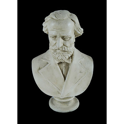 19th C Plaster Bust. Bearded male