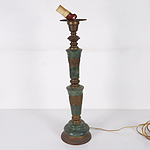 Green Marble & Bronze Lamp Base