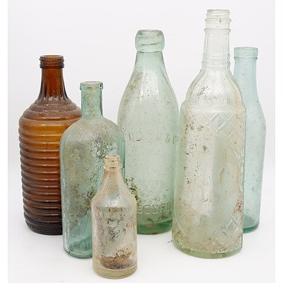 Group of Antique and Vintage Bottles Dug up in the Otways