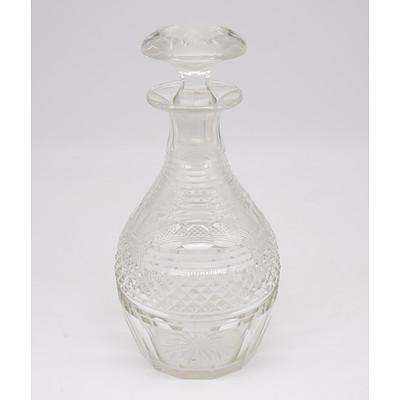 Antique Cut Glass Decanter
