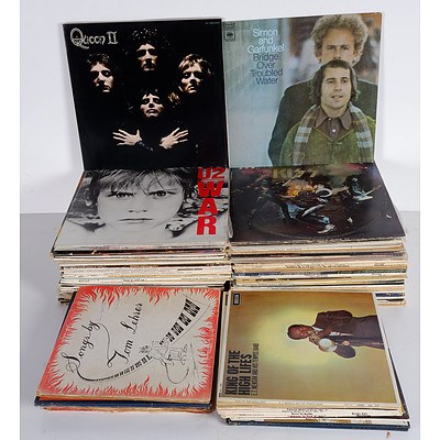WITHDRAWN BY VENDOR Large Group of Rock and Classical Vinyl Records Including Pink Floyd, U2, Queen, Simon and Garfunkel and More
