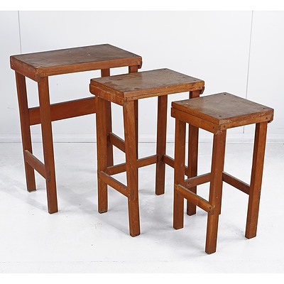 Group of Three Nesting Tables