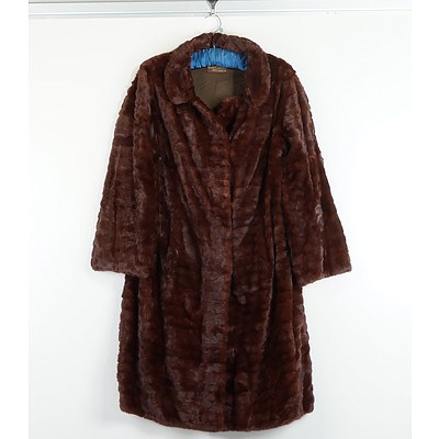 Ladies Three Quarter Fur Coat From Grutzner and Garthly South Yarra Vic