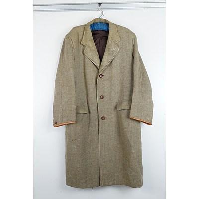 Vintage Gents Hand Woven Harris Tweed Three Quarter Coat