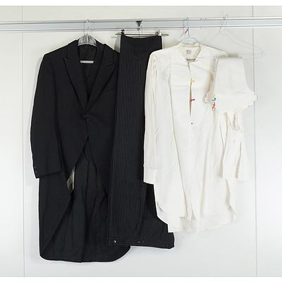 Three Piece Morning Dress Suite, with T I Swantz and Sons Coat and Henry Buck Shirt
