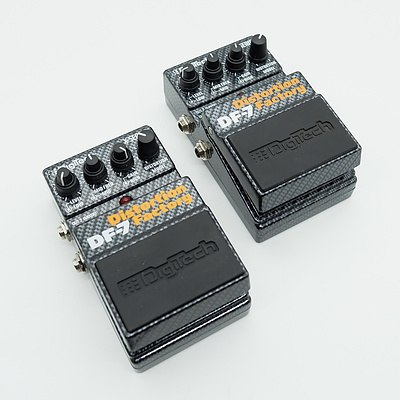 Pair of Digitech Distortion Factory DF-7 Guitar Pedals