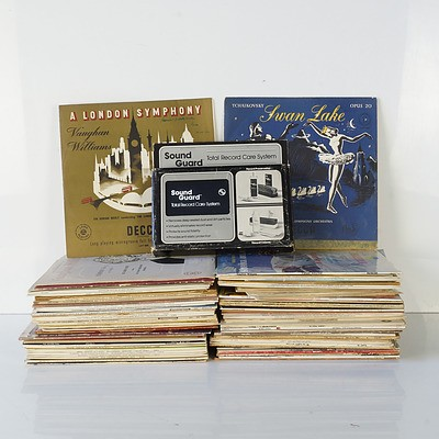 WITHDRAWN BY VENDOR Group of Classical and Other Records and a Record Care Kit, Approximately Eighty