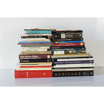 Very Large Group of Australian and International Art History and Reference Books