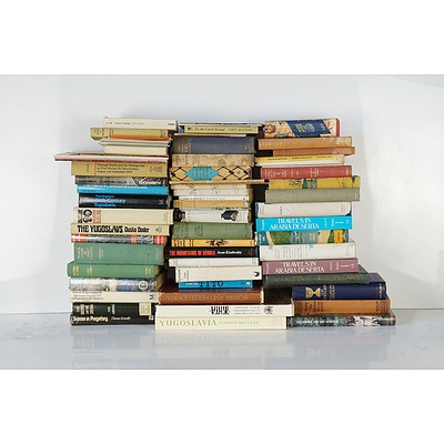 Large Group of Political, Novels and History Books, Including Yugoslavia, Syria, Cambodia, Laos and Letters of TE Lawrence