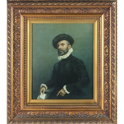 Two 19th Century Chromolithographic Prints of Old Master Paintings by Giovanni Battista Moroni and Anthony van Dyck