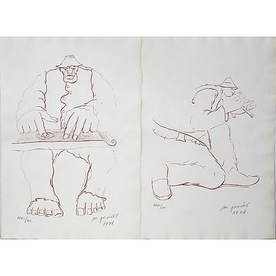 Martin Jonas (Yugoslavian, 1924-1996) Portfolio of Six Lithographs Edition 31/100