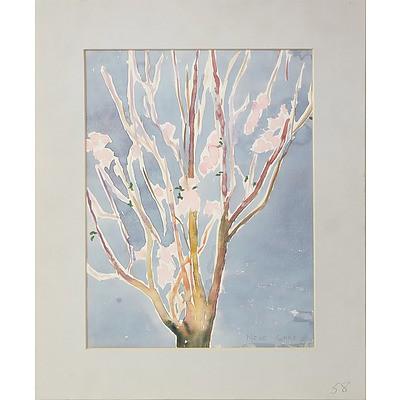 Nene Gare (1919-94) Cherry Blossom Watercolour