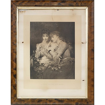 A Thorn Betwixt Two Roses Antique Engraving and a Photo Frame