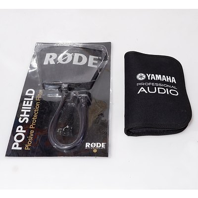 Rode Pop Shield and Yamaha Professional Audio Tool Kit