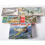 Group of Five Medium Sized Model Planes