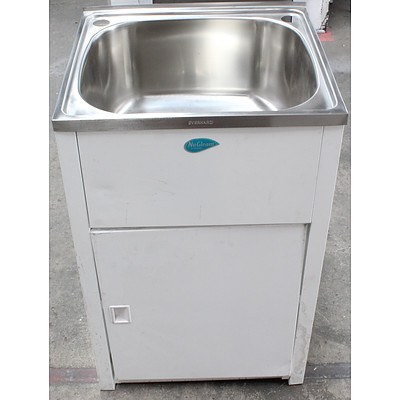 Everhard Stainless Steel Laundry Sink With Cabinet