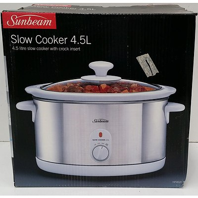 Sunbeam 4.5 Litre Slow Cooker - Brand New